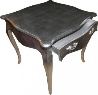 Casa Padrino Barock Esstisch Silber mit Schublade 81 x 81 cm - Vorschau 1