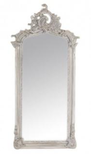 Casa Padrino Luxus Barock Wandspiegel Antik Grau 120 x 55 cm - Massiv und Schwer - Antik Stil Spiegel