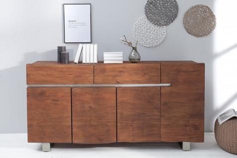 Casa Padrino Luxus Sideboard Natur / Braun B.170 x H.92 x T.45 - Fernsehschrank - Kommode - Handgefertigt aus massivem Akazienholz! - Vorschau 3