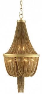 Casa Padrino Luxus Kronleuchter - Luxus Hängeleuchte Gold Durchmesser 44 x H 84 cm