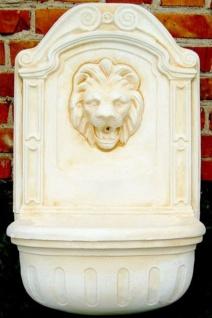 Casa Padrino Barock Wandbrunnen Löwe Weiß / Beige H. 77 cm - Gartenbrunnen im Barockstil