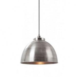 Casa Padrino Hängeleuchte Deckenleuchte Antik Silber Industrial Design Durchmesser 45 x H 32 cm - Industrie Lampe Leuchte Industrieleuchte