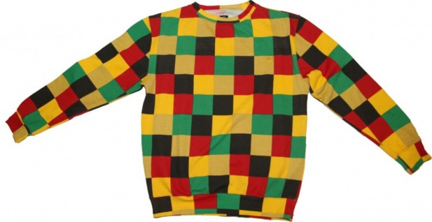 Cityfellaz Sketebord Pullover Black/Green/Yellow/Red Sweater
