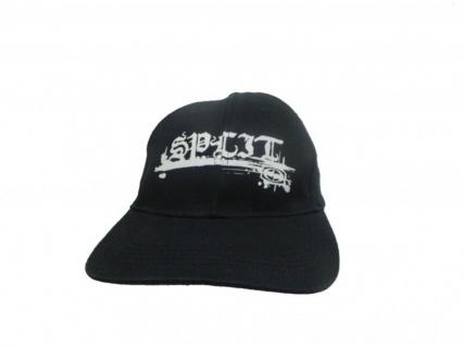 Split Skateboard Cap Black