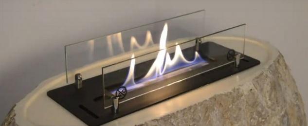 Casa Padrino Luxus Ethanol Kamin mit einem keramischen Bioethanolbrenner Naturfarben / Weiß 90 x 40 x H. 85 cm - Freistehender Naturstein Kamin im Design einer Vase - Vorschau 2
