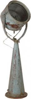 Casa Padrino Designer Industrie Lampe Stehleuchte Blau Antik Vintage Look Stehlampe Studio Lampe Leuchte 175cm- Industrial Design