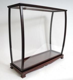 Casa Padrino Luxus Vitrine für Modellschiffe Glas / Holz 34.9 x 101.6 x H 99.7 cm - Modelboot Glasvitrine