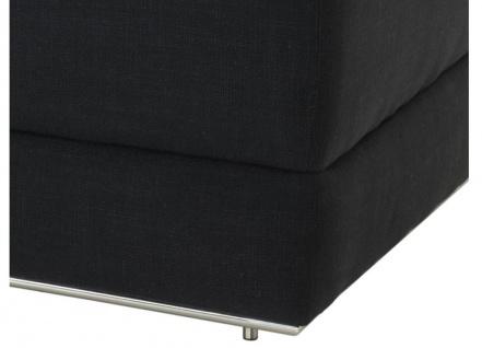 Casa Padrino Designer Sofa Schwarz Linksseitig 231 x 101 x H. 85 cm - Luxus Wohnzimmer Möbel - Vorschau 4