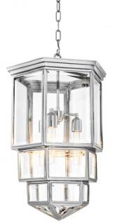Casa Padrino Designer Hängeleuchte / Laterne Silber 58 x 58 x H. 100 cm - Luxus Qualität
