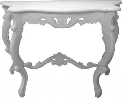 Casa Padrino Barock Konsolentisch Antik Stil Weiß - Shabby Chic