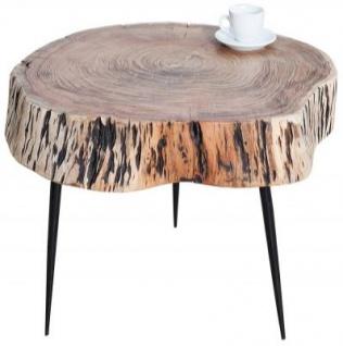 Casa Padrino Designer Massivholz Couchtisch Akazie Natur 60 x H. 50 cm - Massivholz - Salon Wohnzimmer Tisch