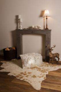 Casa Padrino Landhausstil Kaminumrandung Antik Graubraun 113 x 19 x H. 101 cm - Handgefertigte Shabby Chic Möbel - Vorschau 5