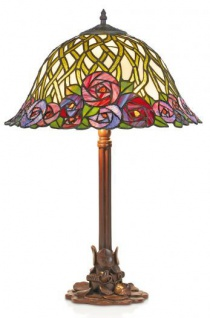 Casa Padrino Tiffany Tischleuchte Hockerleuchte Durchmesser 40 cm ModX3a - Leuchte Lampe