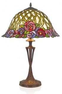 Casa Padrino Tiffany Tischleuchte Hockerleuchte Durchmesser 40 cm ModX3b - Leuchte Lampe