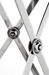Casa Padrino Luxus Barock Beistelltisch Messing Vintage Silber Finish 60 x H 78 cm - Tisch Möbel - Vorschau 3