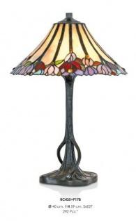Handgefertigte Tiffany Hockerleuchte, Tischleuchte Höhe 59 cm, Durchmesser 40 cm - Leuchte Lampe