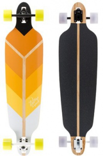 Voltage Longboard Drop Through Komplettboard Directional Yellow 39.75 x 10 inch - Complete - Special Edition mit Koston Kugellagern