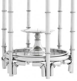 Casa Padrino Kerzenleuchter / Kerzenhalter Silber 30, 5 x 30, 5 x H. 60, 5 cm - Luxus Hotel Restaurant Accessoires - Vorschau 4