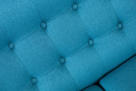 Chesterfield 2er Sofa blau aus dem Hause Casa Padrino - Wohnzimmer Möbel - Couch - Vorschau 5