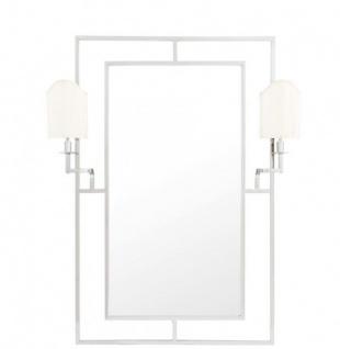 Casa Padrino Luxus Designer Wandspiegel Nickel 113 x H 140 cm - Luxus Hotel Spiegel