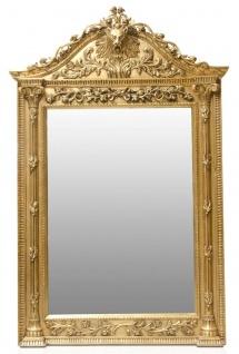 Casa Padrino Luxus Barock Standspiegel Gold - Handgefertigter Massivholz Spiegel im Barockstil - Barock Möbel - Edel & Prunkvoll