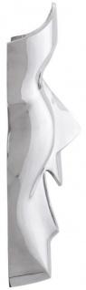 Casa Padrino Luxus Deko Aluminium Maske Silber 31 x 14 x H. 46 cm - Luxus Wanddeko - Vorschau 3
