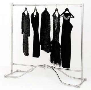 Casa Padrino Luxus Kleiderstange Edelstahl vernickelt - Kleider Ständer Garderobe Garderobenständer Kleiderständer