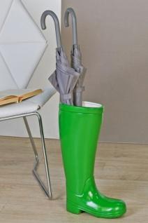 Designer Schirmständer Stiefel Grün Höhe 45 cm, edle Skulptur aus Keramik - Edel & Prunkvoll