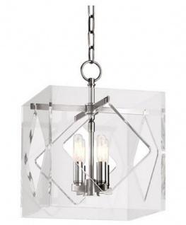 Casa Padrino Luxus Hängeleuchte Silber 30, 5 x 30, 5 x H. 40, 7 cm - Pendelleuchte in Würfelform