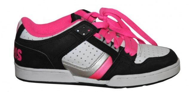 Osiris Skateboard Schuhe Harlem Girls Black/ White/ Pink/ Silver sneakers Shoes - Vorschau 1