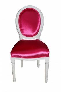 Casa Padrino Barock Esszimmer Stuhl ohne Armlehne Pink - Designer Stuhl - Luxus Qualität