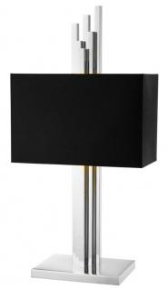 Casa Padrino Luxus Tischleuchte Silber / Schwarz 27 x 40 x H. 80 cm - Luxus Kollektion