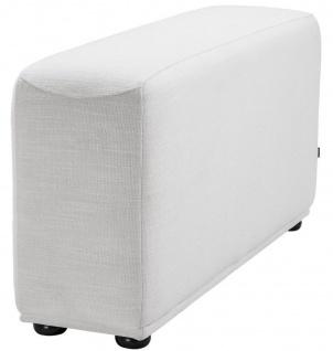 Casa Padrino Luxus Armlehne mit Microfaser Stoff Weiß / Schwarz 33 x 109 x H. 55 cm - Wohnzimmer Möbel