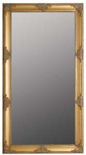 Casa Padrino Barock Wandspiegel Gold 72 x H. 132 cm - Handgefertigter Barock Spiegel mit Holzrahmen und wunderschönen Verzierungen