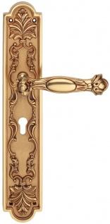 Casa Padrino Barock Türklinken Set Französisches Gold 18, 4 x H. 41, 8 cm - Barockstil Türgriff Set