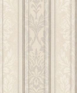 Casa Padrino Barock Textiltapete Creme / Grau / Weiß / Anthrazit 10, 05 x 0, 53 m - Wohnzimmer Tapete - Deko Accessoires