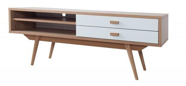 Casa Padrino Designer Fernsehschrank TV-Board Natur 120 x 42 x H.45cm - Sideboard - Kommode