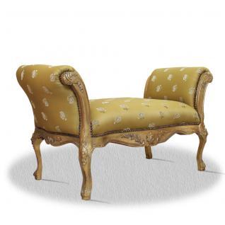 Casa Padrino Barock Schemel Gold Blumenmuster 100 x 40 x H. 60 cm - Vorschau