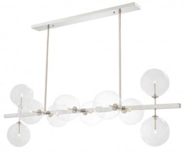 Casa Padrino Luxus LED Kronleuchter Silber 160 x 52 x H. 53 cm - Hotel Restaurant Möbel