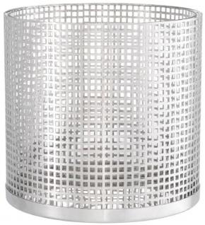 Casa Padrino Luxus Kerzenleuchter Silber Ø 25, 5 x H. 25 cm - Runder Kerzenleuchter aus Edelstahl und Glas - Luxus Deko Accessoires - Vorschau 2