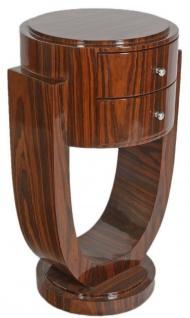 Casa Padrino Art Deco Beistelltisch Set Braun 45 x 40 x H. 75 cm - Mahagoni Beistelltische mit 2 Schubladen - Luxus Qualität - Vorschau 3