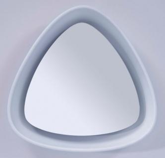 Casa Padrino Luxus Designer Spiegel Weiß 64 x H. 63 cm - Designer Wandspiegel mit Licht