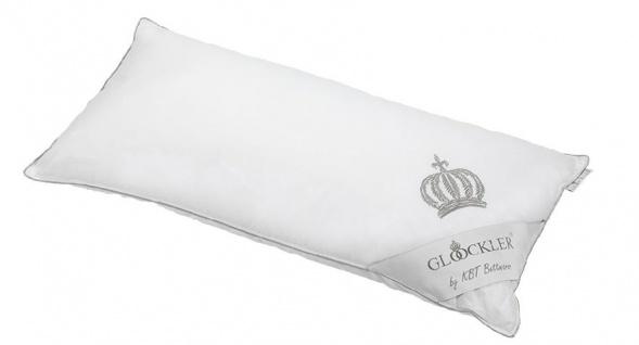 Harald Glööckler Designer Platin Kopfkissen 40 x 80 cm Weiß / Platin + Casa Padrino Luxus Barock Bleistift mit Kronendesign - Vorschau 2