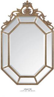Casa Padrino Barock Wandspiegel Gold H 144 cm B 91 cm - Edel & Prunkvoll - Goldener Spiegel