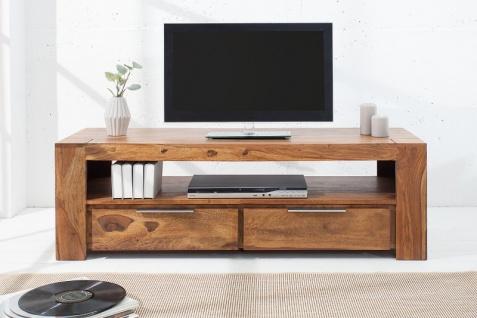 Casa Padrino Designer TV-Board B.135 x H.45 x T.45 - Fernsehschrank - Kommode - Sideboard - Handgefertigt aus Massivholz! - Vorschau 3