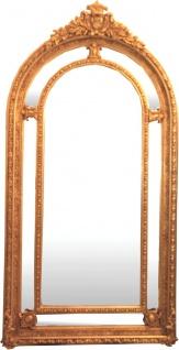 Casa Padrino Barock Wand Spiegel Gold 125 x H. 228 cm - Edel & Prunkvoll
