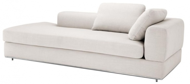 Casa Padrino Designer Sofa Naturfarbig Rechtsseitig 231 x 101 x H. 85 cm - Luxus Wohnzimmer Möbel - Vorschau