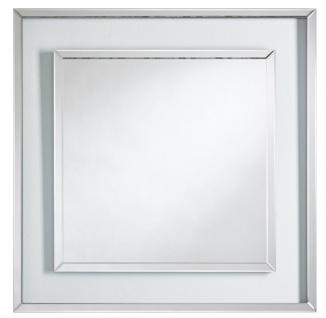 Casa Padrino Designer Wandspiegel 90 x H. 90 cm - Wohnzimmer Spiegel - Garderoben Spiegel - Luxus Möbel