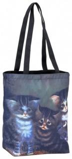 Designer Shoppertasche mit bezaubernden Katzenkinder - Elegante Tasche - Luxus Design