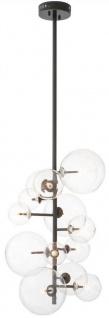 Casa Padrino Luxus Halogen Kronleuchter Bronzefarben 26 x 26 x H. 71 cm - Moderner Kronleuchter mit runden Glas Lampenschirmen - Luxus Kollektion
